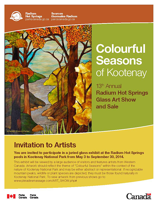 2014, 13th Annual Radium Hot Springs Art Glass Show and Sale