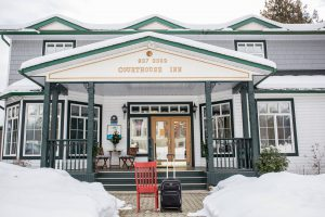 The Red Chair checks in at Courthouse Inn Revelstoke
