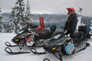 snowmobiling on Frisby Ridge Revelstoke