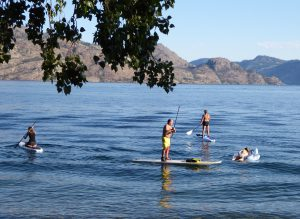 Summer evening along Okanagan Lake in Peachland
