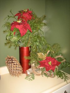 a Christmas corner at Misty Meadows Bed & Breakfast